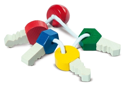 Picture of Wooden toy keys