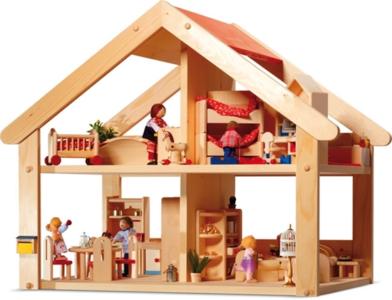 Picture of Wooden doll house Primera