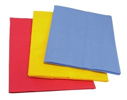 Picture of Set of three small play cloths (red, blue and yellow)