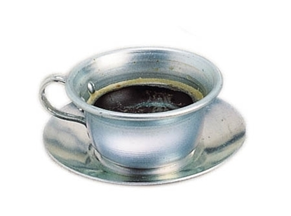 Picture of Cup and saucer in aluminium