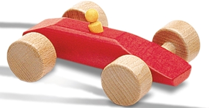 Picture of Wooden red race car
