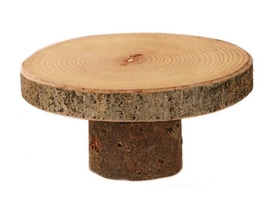 Voor kabouters of mini popjes, gemaakt van twee snedes van een boomstronk, een dunne en een brede.