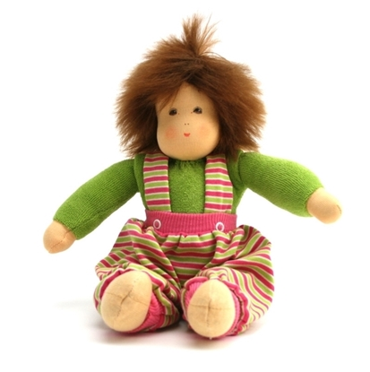 Picture of Doll green with mohair hair 30cm