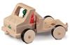 Houten speelgoed vrachtwagen  kort model om allerlei werktuigen te plaatsen.
