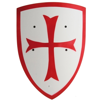Picture of White templar shield with red cross