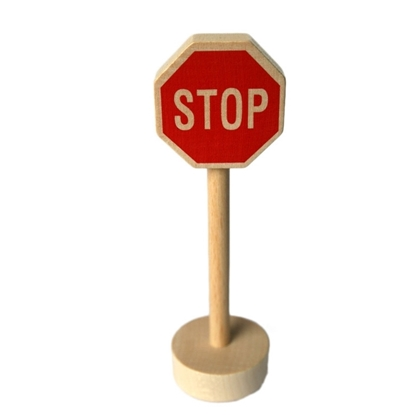 Picture of Wooden traffic sign stop