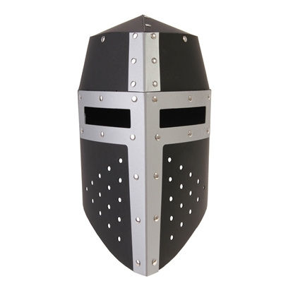 Picture of Knight helmet black and silver