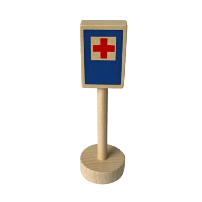 Picture of Wooden traffic sign hospital