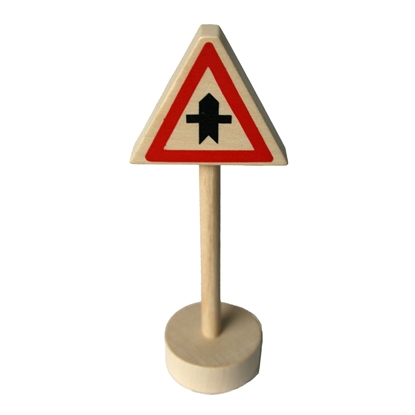 Picture of Wooden traffic sign priority