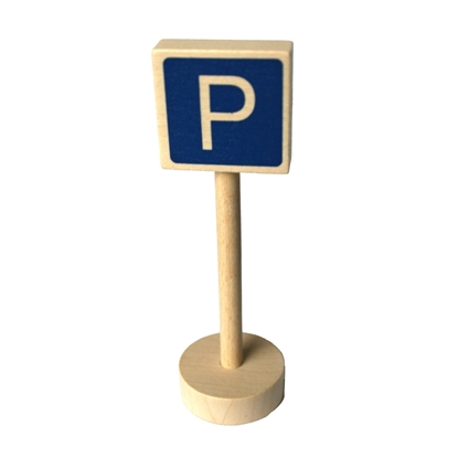 Picture of Wooden traffic sign parking