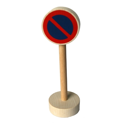 Picture of Wooden traffic sign parking restriction