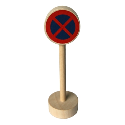 Picture of Wooden traffic sign no waiting