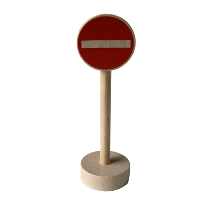 Picture of Wooden traffic sign no entry