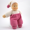 Picture of Little doll white & pink terry 32cm