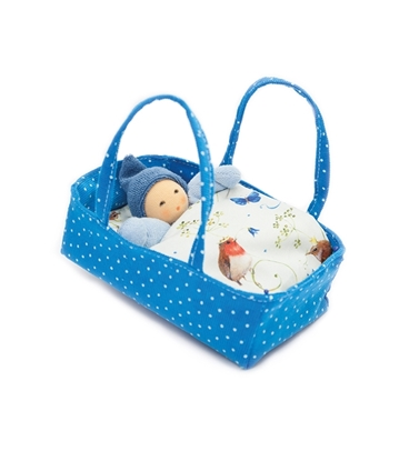 Picture of Blue flower carrycot