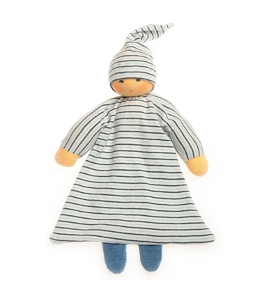 Picture of Blue striped bed doll