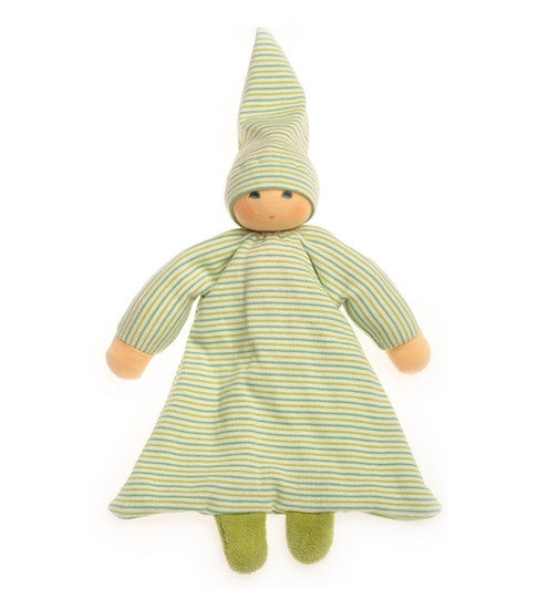 Picture of Green striped bed doll