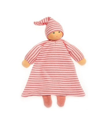 Picture of Red striped bed doll