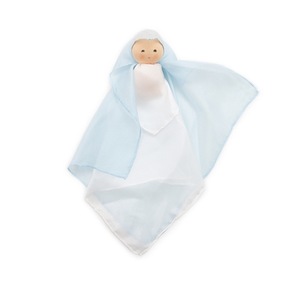 Picture of Blue silk cuddle doll