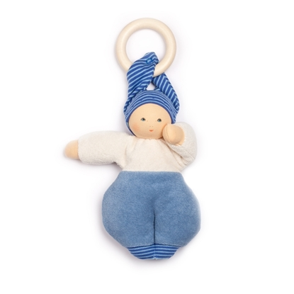 Picture of Doll Lolly blue with removable teether