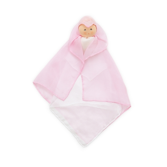 Picture of Pink silk cuddle doll