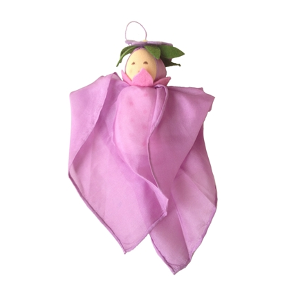 Picture of Lavender silk cuddle doll