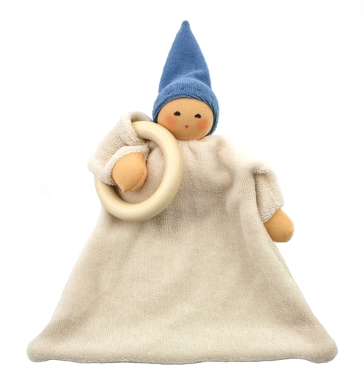 Picture of Cuddle doll with ring and blue hat