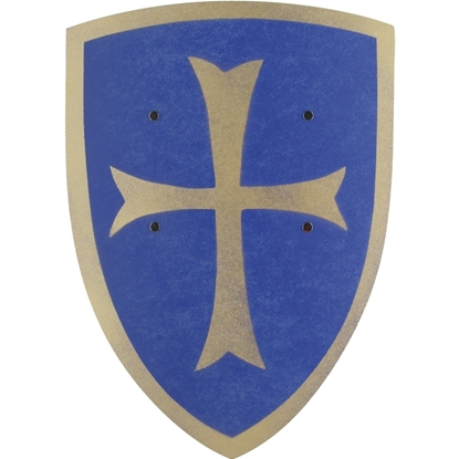 Picture of Big blue templar knight shield