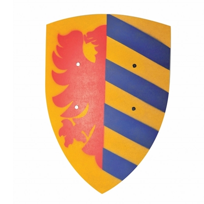 Picture of Big knight shield, yellow with blue stripes