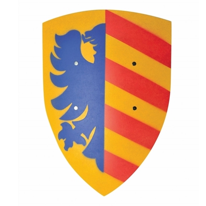 Picture of Big knight shield, yellow with red stripes