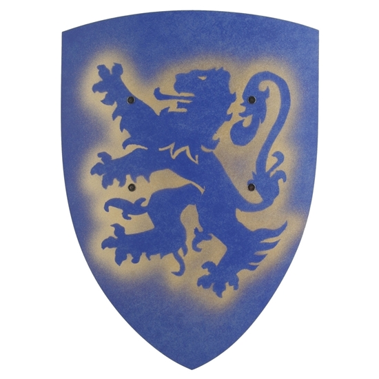 Picture of Blue knight shield with lion