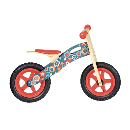 Picture of Balance bike with pink flowers