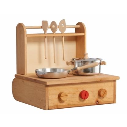 Opklapbaar houten kookfornuis