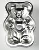 Metalen speelgoed bakvorm in de vorm van een beer.
