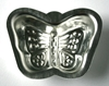 Metal baking mould for children in the shape of a butterfly