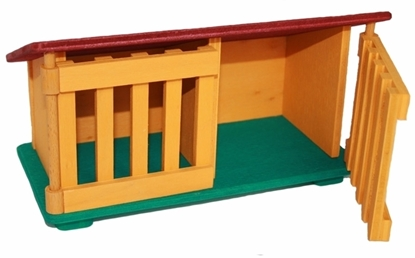 Picture of Coloured rabbit hutch