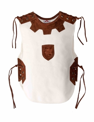 Picture of Knight tabard short, leather and linen