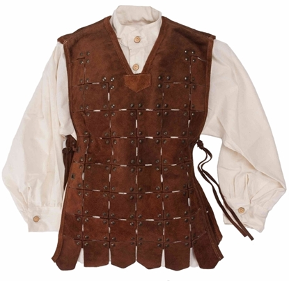 Picture of Short leather knight tabard riveted