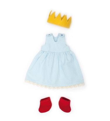 Picture of Light blue doll dress in organic cotton