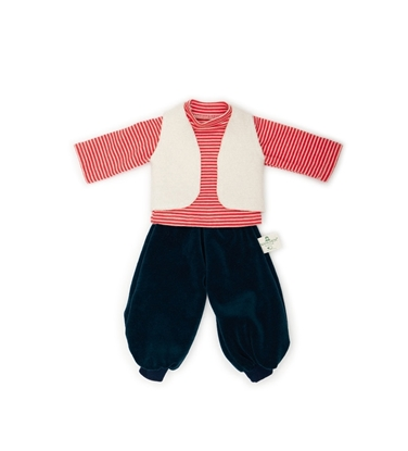 Picture of Organic doll trousers, t-shirt and waistcoat