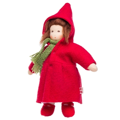 Picture of Doll with red coat and gown