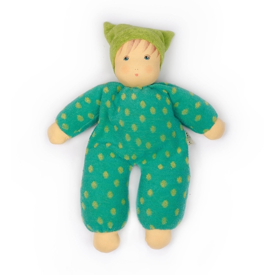 Picture of Doll with green outfit, for babies and toddlers