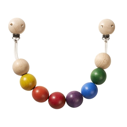 Picture of Stroller chain with multicolored wooden beads