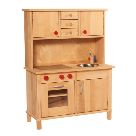 Play Kitchen In Solid Wood With Cabinets