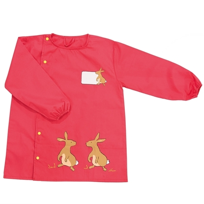 Picture of Red school art smock