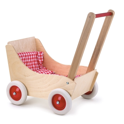 Picture of Doll pram in beech wood