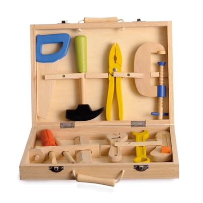 Picture of Wooden toy tool case