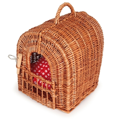 Picture of Wicker plush animal basket