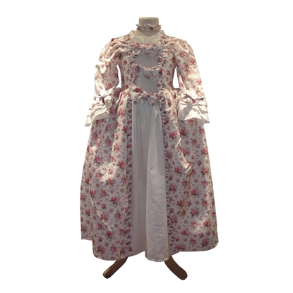 Picture of Princess dress Pompadour with floral print