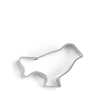 Emporte-pièce en métal ayant la forme d'un oiseau.
